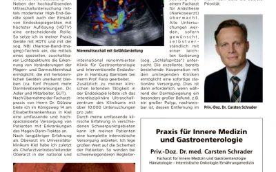 """Artikel in der Sonderbeilage """"Gesundheitswesen"""" der Kieler Nachrichten am 25.01.2019"""